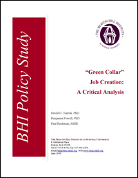 Green Collar Job Creation: A Critical Analysis